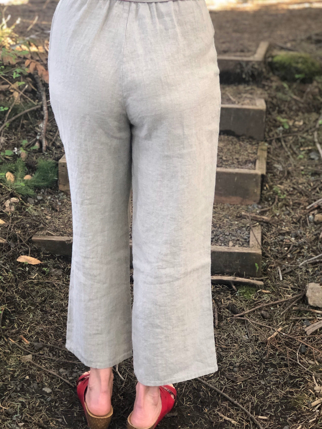 FLAX Crop Linen Pants