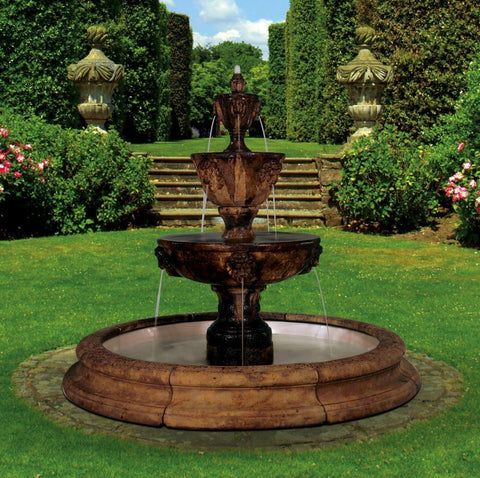 Three-Tier Leonesco in Toscana Pool Outdoor Water Fountain