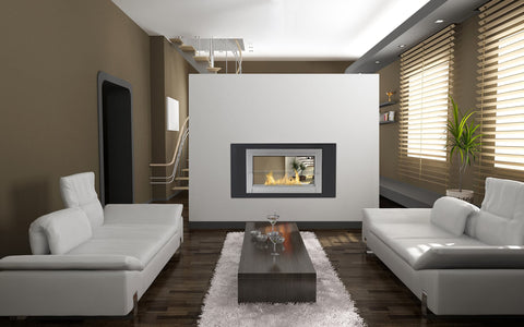 Double Sided Ethanol Fireplace