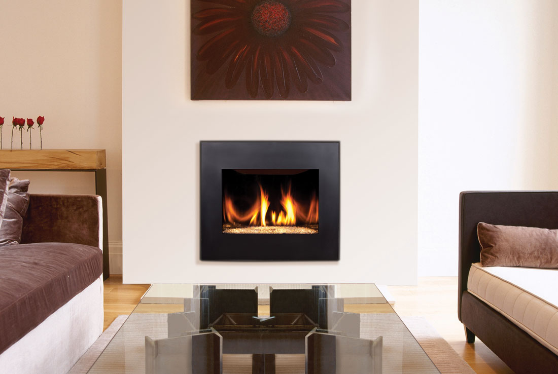 Elevated Gas Fireplace