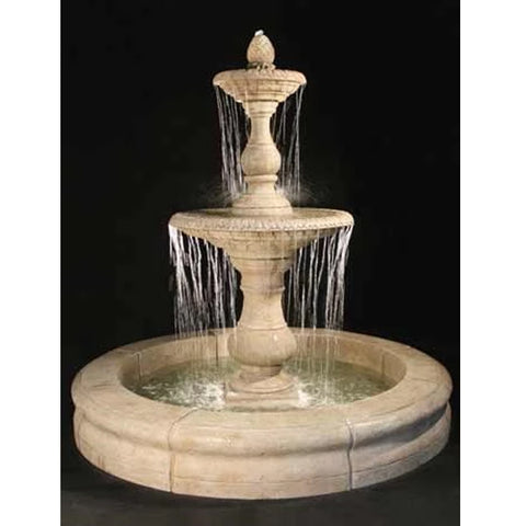 Gran Vista Tiered Outdoor Fountain with Fiore Pond