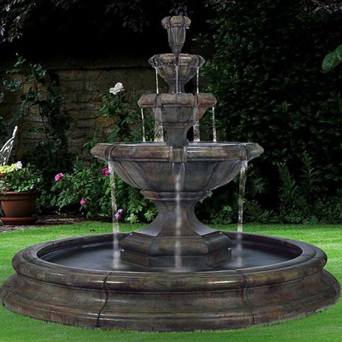 Grande Kensington Three Tier Fountain in Pool