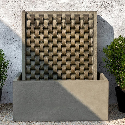 Large M Weave Outdoor Fountain