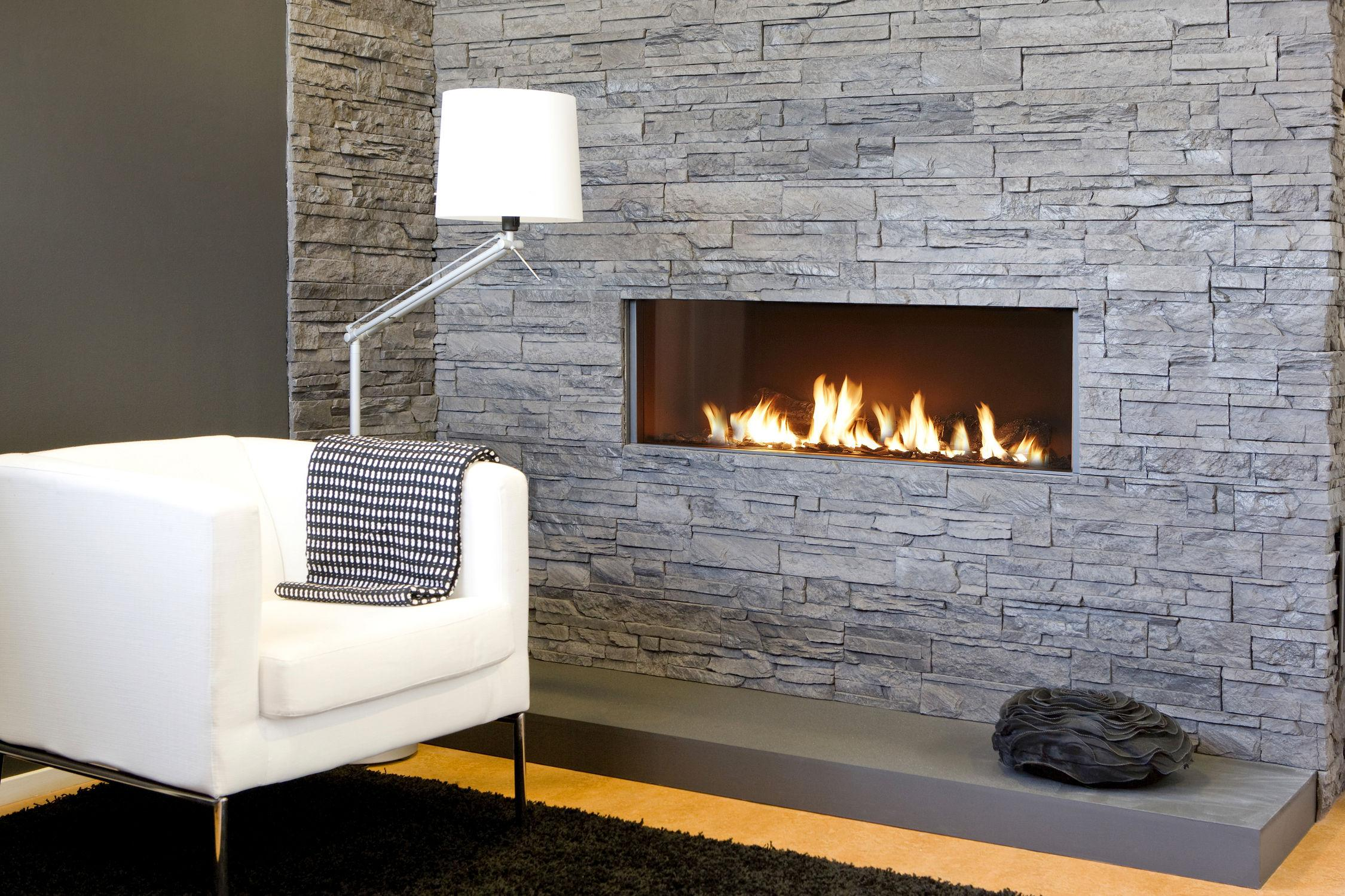 Rectangular Gas Fireplace