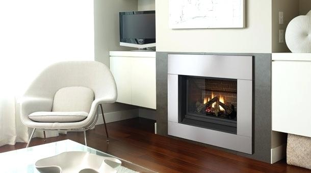 Stainless Steel Framed Fireplace