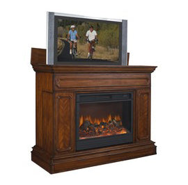 TV Lift Cabinets with Fireplace
