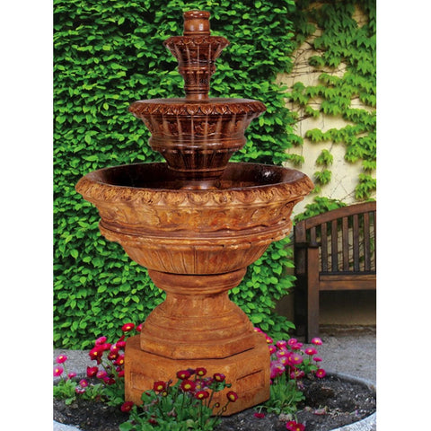 Valencia Three-Tier Outdoor Water Fountain