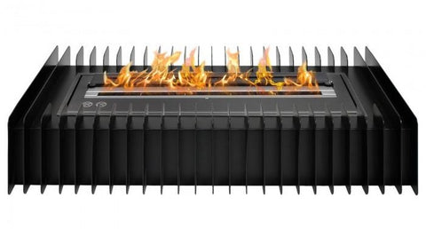 Ignis EBG2400 Black Ethanol Fireplace Grate with Black Burner