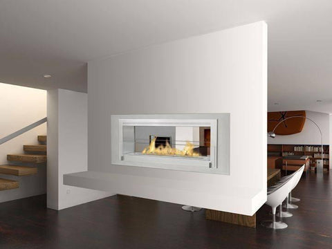 Eco-Feu Santa Cruz 2-Sided Biofuel Fireplace