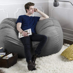 Sofa Saxx 5.5 Foot Bean Bag Loveseat - Microsuede Charcoal - Soothing Company