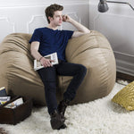 Sofa Saxx 5.5 Foot Bean Bag Loveseat - Microsuede Camel - Soothing Company