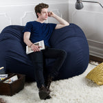 Sofa Saxx 5.5 Foot Bean Bag Loveseat - Microsuede Navy - Soothing Company
