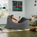 Pillow Saxx 5.5 Bean Bag Pillow - Microsuede Charcoal  - Soothing Company