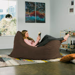 Pillow Saxx 5.5 Bean Bag Pillow - Microsuede Chocolate  - Soothing Company