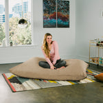 Pillow Saxx 5.5 Bean Bag Pillow - Microsuede Camel  - Soothing Company