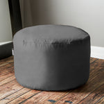 Saxx 3 Foot Round Bean Bag in Charcoal - Soothing Company