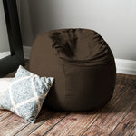 Saxx 3 Foot Round Bean Bag in Chocolate - Soothing Company