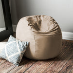 Saxx 3 Foot Round Bean Bag in Camel - Soothing Company