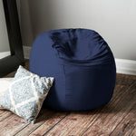 Saxx 3 Foot Round Bean Bag in Navy - Soothing Company