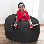 Saxx 3 Foot Round Bean Bag in Black - Soothing Company
