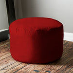 Saxx 3 Foot Round Bean Bag in Cinnabar - Soothing Company