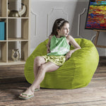 Saxx 3 Foot Round Bean Bag in Lime - Soothing Company
