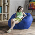 Saxx 3 Foot Round Bean Bag in Blueberry - Soothing Company
