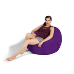 Saxx 3 Foot Round Bean Bag in Grape - Soothing Company