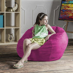 Saxx 3 Foot Round Bean Bag in Fuchsia - Soothing Company