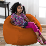 Saxx 3 Foot Round Bean Bag in Mandarin - Soothing Company