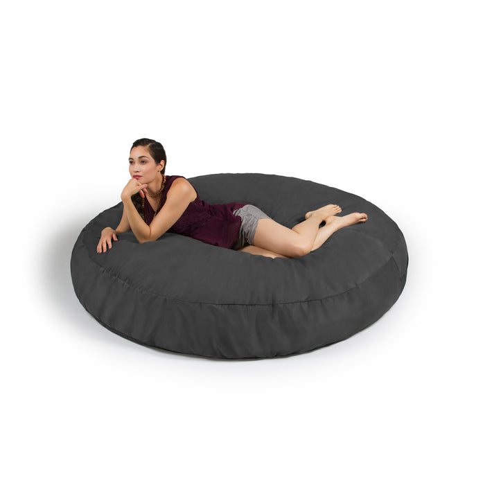 Cocoon 6 Foot Giant Bean Bag - Microsuede Charcoal - Soothing Company