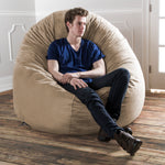 Cocoon 6 Foot Giant Bean Bag - Microsuede Camel - Soothing Company