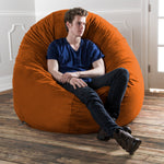 Cocoon 6 Foot Giant Bean Bag - Microsuede Mandarin - Soothing Company