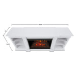 Eliot Grand Entertainment Center With Electric Fireplace in White - Soothing Company