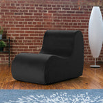 Midtown Contoured Modern Chair - Velvet Twill in Black  -Soothing Company