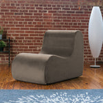 Midtown Contoured Modern Chair - Velvet Twill in Mocha  -Soothing Company