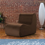 Midtown Contoured Modern Chair - Velvet Twill in Java  -Soothing Company