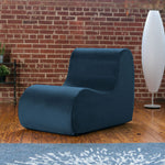 Midtown Contoured Modern Chair - Velvet Twill in Marine  -Soothing Company