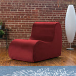 Midtown Contoured Modern Chair - Velvet Twill in Tomato  -Soothing Company