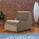 Midtown Contoured Modern Chair - Velvet Twill in Sand  -Soothing Company
