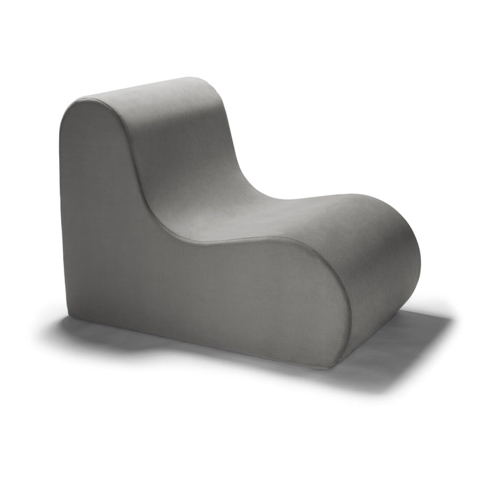 Midtown Contoured Modern Chair - Velvet Twill in Pewter  -Soothing Company