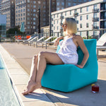Ponce Outdoor Bean Bag in Light Blue - Soothing Company