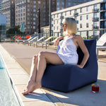 Ponce Outdoor Bean Bag in Navy - Soothing Company
