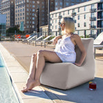 Ponce Outdoor Bean Bag in Pearl - Soothing Company