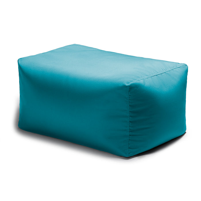 Leon Outdoor Bean Bag Ottoman in Light Blue - Soothing Company
