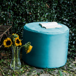 Spring Outdoor Bean Bag Pouf in Light Blue - Soothing Company