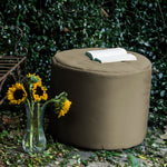 Spring Outdoor Bean Bag Pouf in Taupe - Soothing Company
