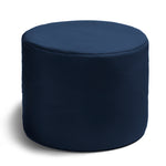 Spring Outdoor Bean Bag Pouf in Navy - Soothing Company