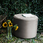 Spring Outdoor Bean Bag Pouf in White - Soothing Company