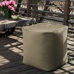 Luckie Outdoor Bean Bag Pouf in Taupe - Soothing Company